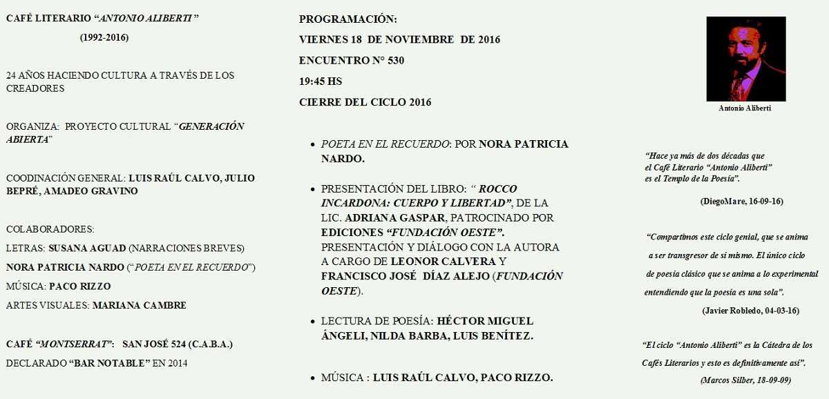 """Nuevo libro """"Rocco Incardona cuerpo y libertad"""", de Adriana Gaspar."""